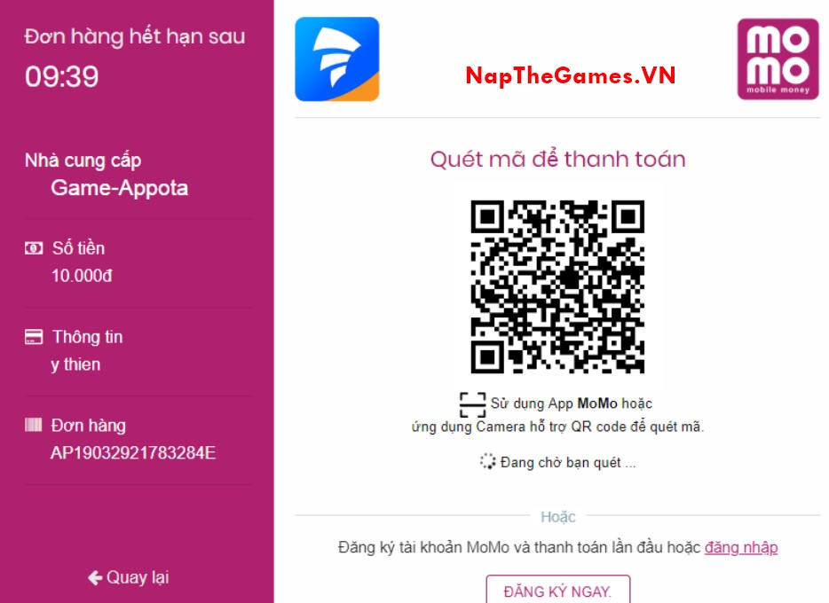 nap the game hien vien mobile