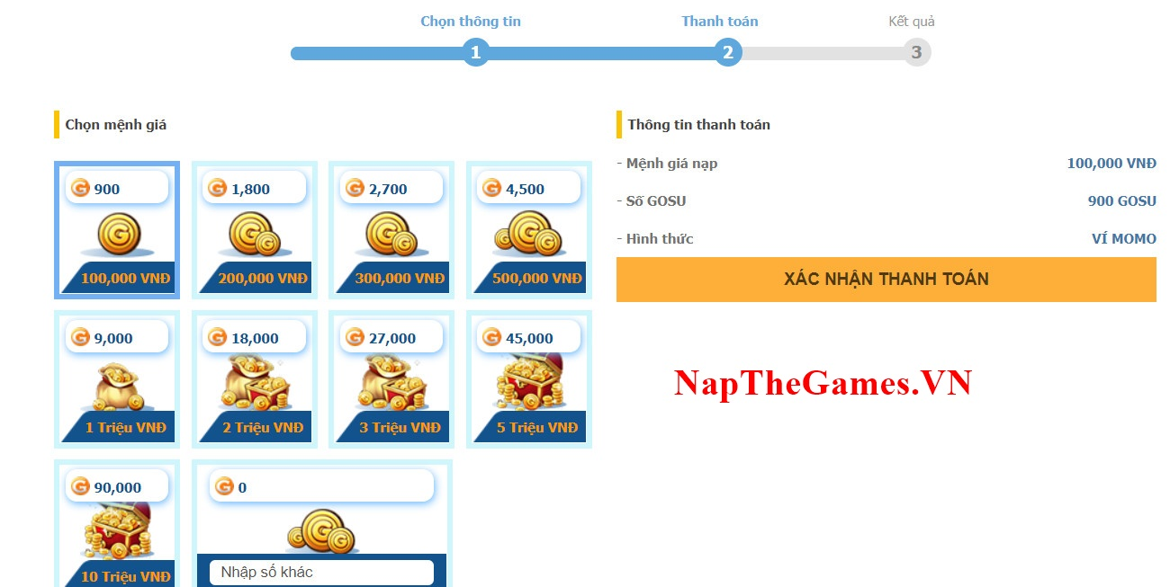 nạp game tam quốc afk