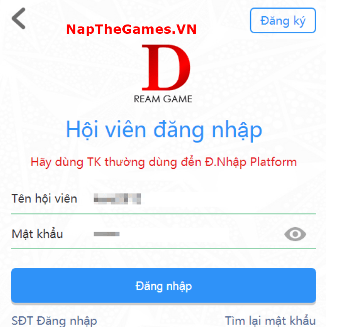 nạp thẻ game dark x honor