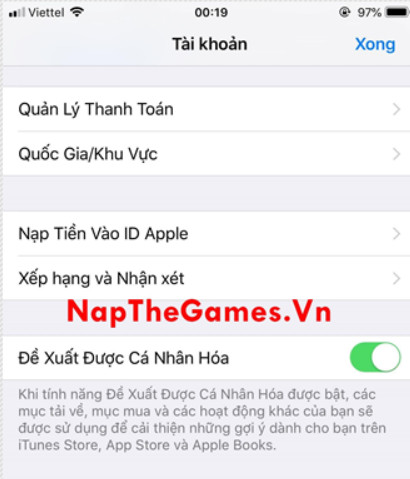 nạp tiền mobile legends ios