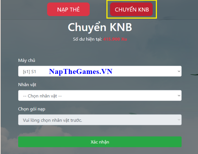 nạp game loạn giang hồ