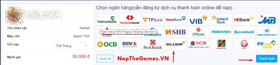 nap the tien vuc gamota