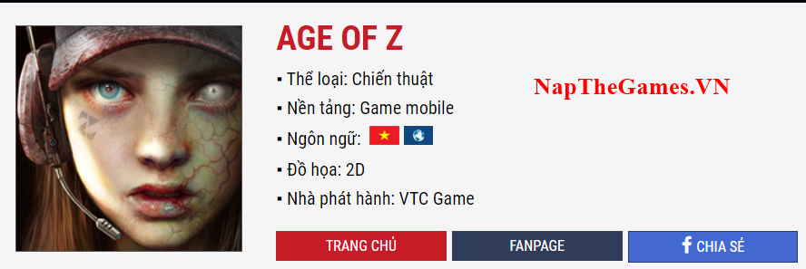 Nạp Thẻ AGE OF Z